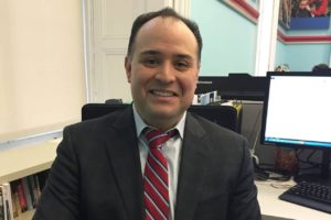 Eric Contreras, 43 years old, has been tapped to lead the elite lower Manhattan public school. Credit: New York City Department of Education